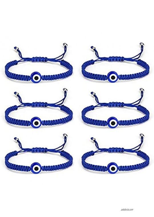 6Pcs Evil Eye Stretch Bracelet Set Turkey Eyes Bead String Bracelets Amulet for Women Girls Men Protection Jewelry Lucky Gift