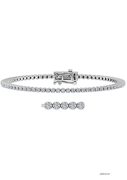 2 Carat Diamond Tennis Bracelet in 14K Gold (6.85 Inch)