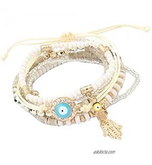Crystal Beads Hand Charm Bracelets & Wrap Beads Bracelets for Women Jewelry