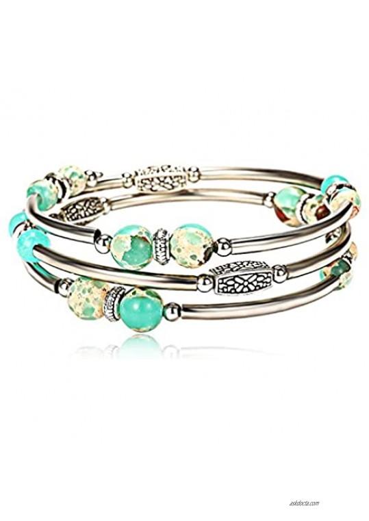 Lateefah Wrap Bracelet for Women Jewelry Fashion Bead Bracelets Bangle Jewelry Swarovski Crystals Bracelet Women Girls…