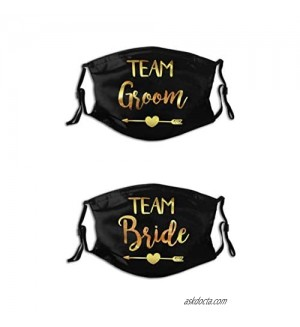 2 Pcs/Set Wedding Couple Face Masks Bride and Groom Team Reusable Balaclava for Couples_F.14