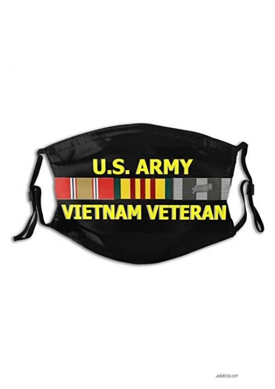 U.S. Veteran Marine Corps-Face Mask Breathable-Adjustable-Dust Filter Mask Balaclavas Unisex