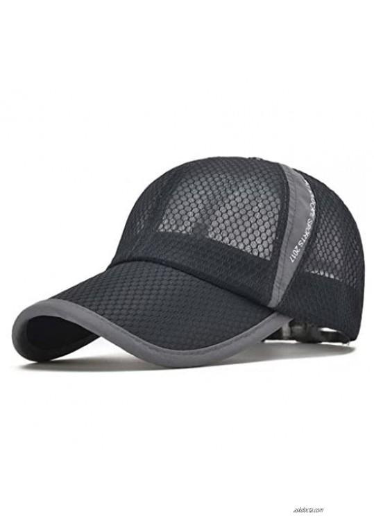 CRYSULLY Unisex Summer Baseball Hat Sun Cap Lightweight Mesh Quick Dry Hats Adjustable Cap Cooling Sports Caps