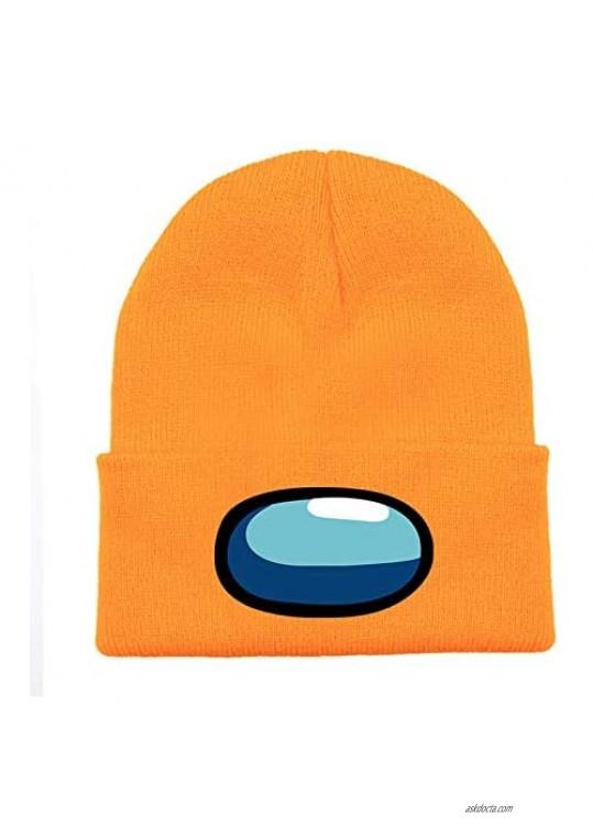 BESTARY Among Us Beanie Hat for Women Men Merch Cosplsy Autumn Winter Knit Hat Rib Knit Beanie Acrylic Hat