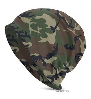Camo Hunting Deer Bear Moose Turkey Duck Beanie Hat Slouchy Skull Cap Warm Chemo Headwear for Men Women