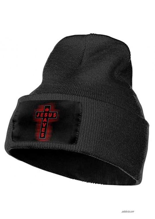 Enjoywellcoolife Christian Jesus Saves Men & Women Beanie Cap Winter Hat Knit Cap Skull Cap
