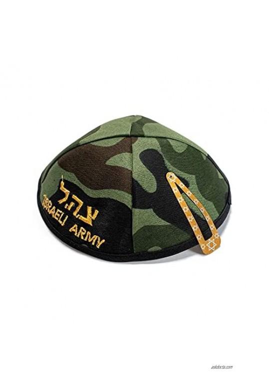 New Kippah 16cm I.D.F Israel Army Camouflage Jewish Yarmulke Head Cover