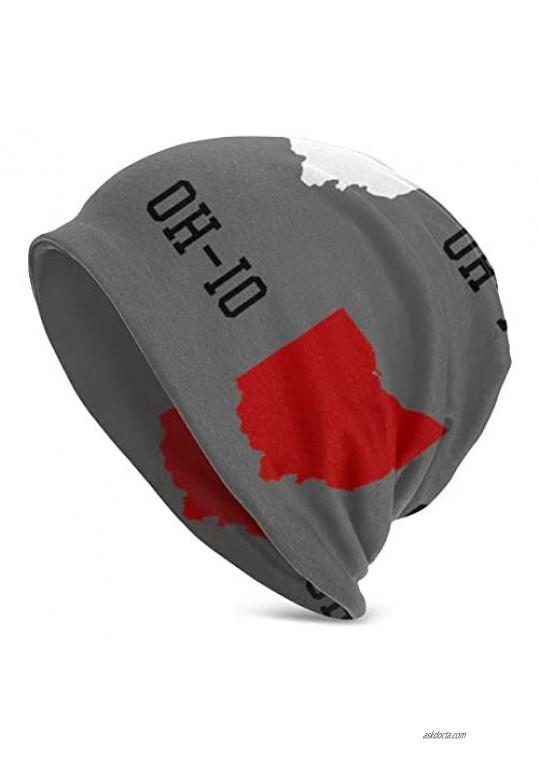 Skull Cap Oh-io State Gray Custom Beanie Hat Knit Toque Cap Soft Knit Hats Ski Cap for Unisex Hat