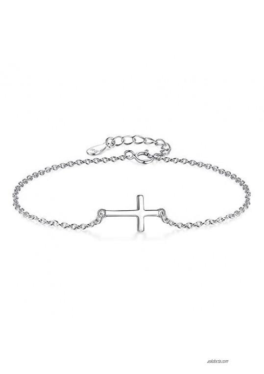 Cross Ankle Bracelet for Women Chain Adjustable Foot Beach Ankle Bracelets for Teen Girls