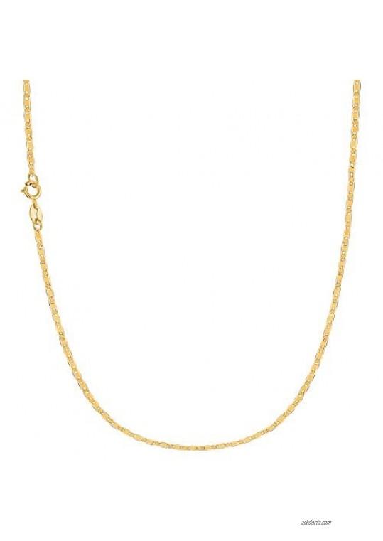 Ritastephens 10k Solid Yellow Gold Mariner Link Chain (Bracelet  Anklet  or Necklace)