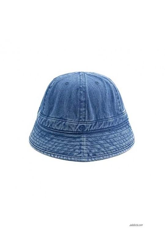 Croogo Denim Bucket Hat Casual Outdoor Fishing Hiking Safari Boonie Hat Daily Sun Beach Fisherman Hat Hip Hop Dancing Hat Cap