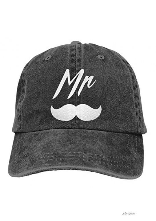 Balaba Men's Couple Gifts Unisex Cotton Classic Cap Adjustable Buckle Closure Hat Cowboy Cap