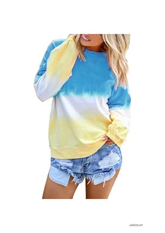 TOPBIGGER Women Blouses Women Tops Women's Pullover Women's T-Shirt Women's Casual Oversized Sweatshirt