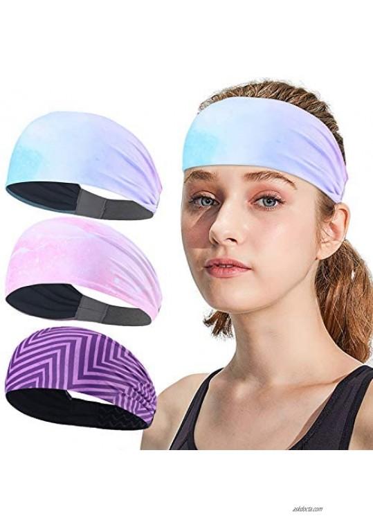AXBXCX Non-Slip Silicone Headband Sweatband & Sports Headband Moisture Wicking Workout Sweatbands
