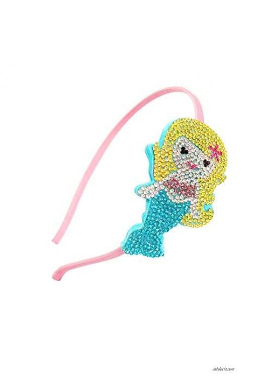 Bowbear Girls Womens Crystal Party Headband  Mermaid