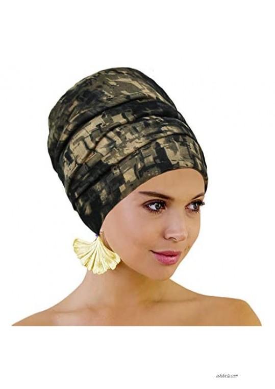 Head Wraps for Women Head Scarf Hijab Long Hair Scarf Wrap African Turban Wrap Soft Head Band Tie Urban Headwrap