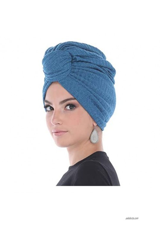 Madison Headwear Turban Headwraps for Women with African Knot & Woven Lurex Thread for Extra Glimmer and Comfort for Cancer