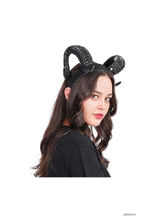 Personality Horn Headband Demon headband Horns Headpiece Halloween Cosplay Party Cosplay Headband Costume Accessory