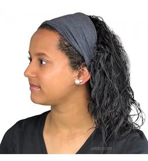 Satin Life Satin Lined Headband  Protective Style (Dark Heather Gray)