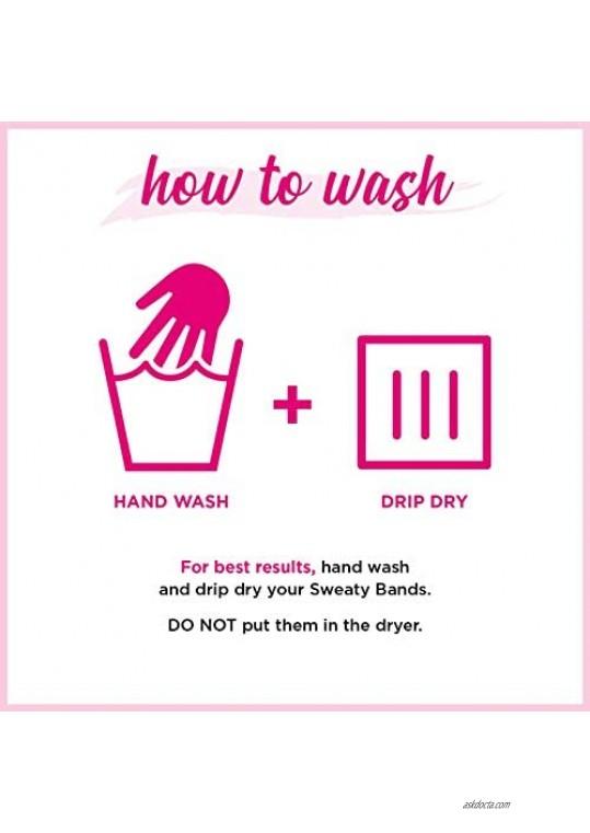 Sweaty Bands Womens Girls Headband - Non-Slip Velvet-Lined Exercise Hairband - Mermaid Hair Don't Care Pink