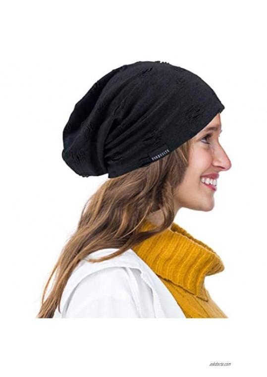 Ruphedy Mens Summer Slouchy Beanie Chemo Hat Thin Lightweight Long Oversized Skull Cap B301