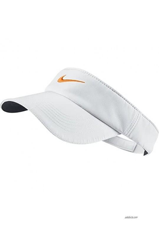 Nike Golf Women's Tech Visor White/Orange Horizon One Size Fits All