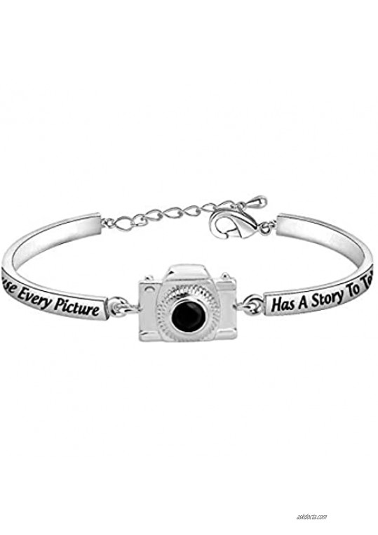 AKTAP Photograph Bracelet Camera Charm Because Every Picture Has a Story to Tell Photography Gifts for Photographers Women Best Friends