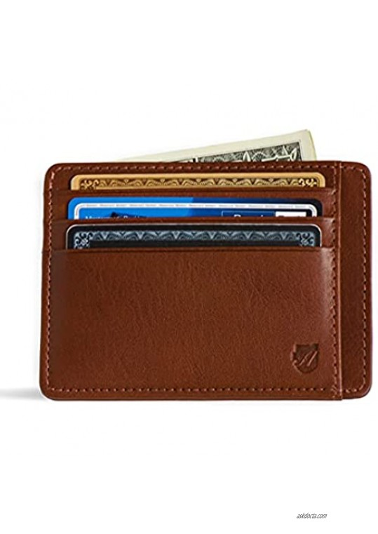 Front Pocket Wallet in Tuscany leather Men's Wallet RFID Minimalist Card Holder from Axess