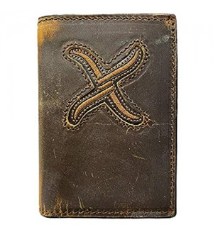 TWISTED X Men's Leather Trifold Wallet