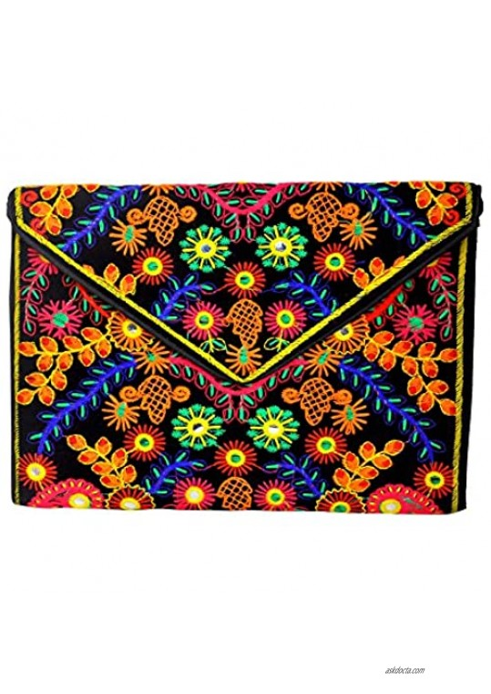 Black Velvet clutch bag with sling handmade by Indian artisans- Mother's day Collection 2021