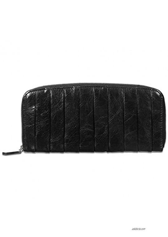 Hobo International Women's Adeline Leather Wallet Clutch in Black