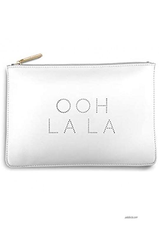 Katie Loxton Polka Dot Ooh La La Pearlescent White Women's Faux Leather Clutch Perfect Pouch