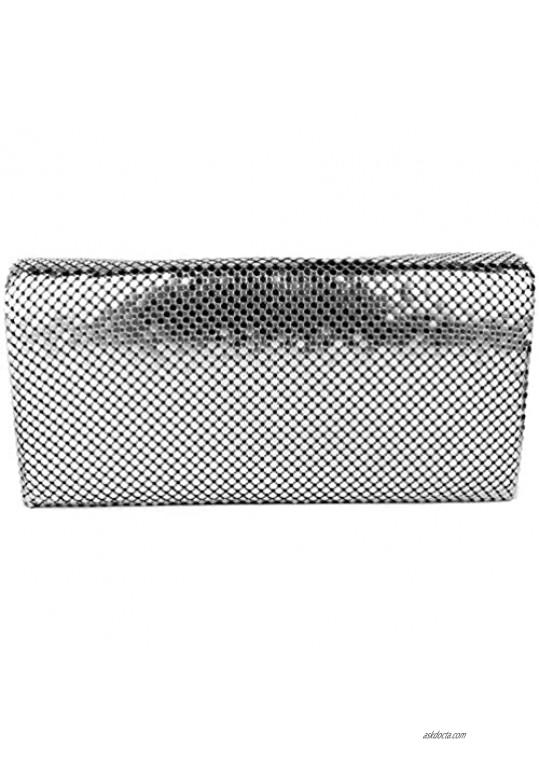 Luxuriant Soft Metallic Mesh Women's Shoulder Evening Clutch Wallet Purse