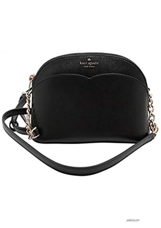 Kate Spade New York Payton Small Dome Crossbody Bag Black (Small Size)