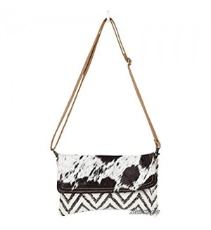 Myra Bag Winsome Upcycled Canvas & Cowhide Crossbody Bag S-1350