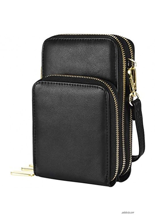 VBIGER Cell Phone Purses for Women Small Crossbody Bags Phone Bag Shoulder Bag with Credit Card Slots