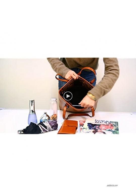 Iswee Shoulder Handbags Top Handle Satchel Work Bags Purse for Women