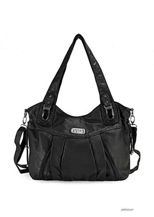 Scarleton Satchel Handbag for Women Ultra Soft Washed Vegan Leather Crossbody Bag Shoulder Bag Handbag for Women H1472