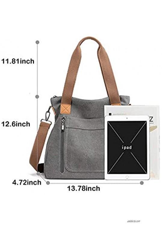 Women Canvas Shoulder bags Hobo Tote Bags Casual Satchel Handbags Crossbody Shopper Bags