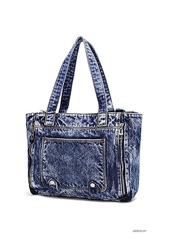Donalworld Women Casual Denim Shoulder Bag Tote Handbag