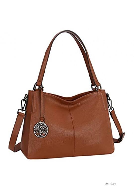 Heshe Leather Handbags for Women Top Handle Totes Bags Shoulder Handbag Satchel Designer Purse Cross Body Bag for Lady
