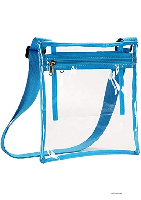 HULISEN Clear Crossbody Purse Bag Stadium Approved with Extra Inside Pocket
