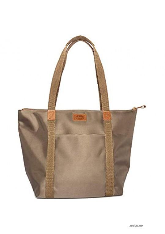 Waterproof Nylon Tote Bag - Shopper Handbag Shoulder Bag for Women - Spacious Purse by FVM - Zipper Anti Theft Pockets