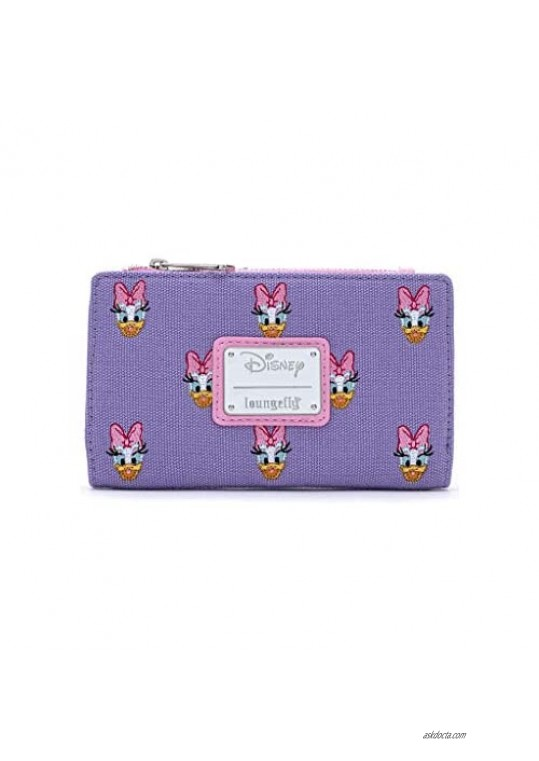 Loungefly x Disney Sensational 6 Daisy Duck AOP Embroidered Canvas Wallet