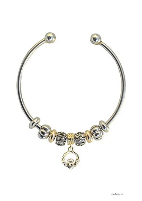 Liffey Artefacts Irish Celtic Claddagh Charm Bracelet