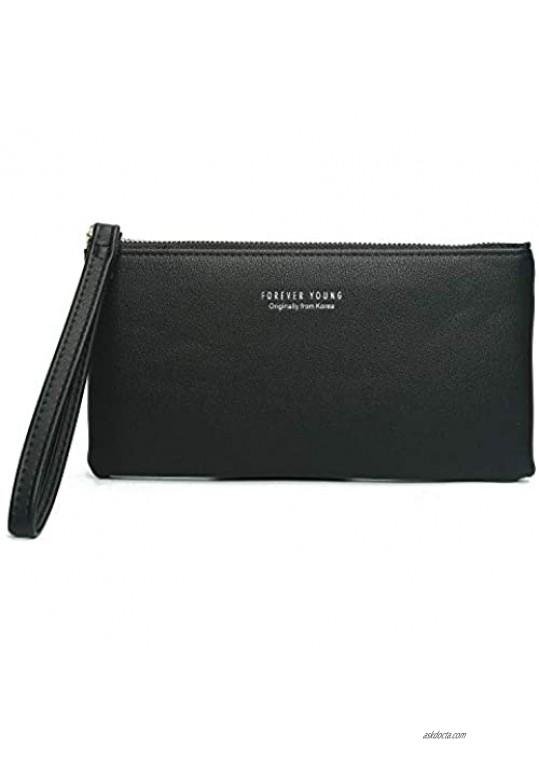Leather Small Wristlet Clutch Purse  Wristlet Wallet Clutch Bag - Small Phone Purse Handbag