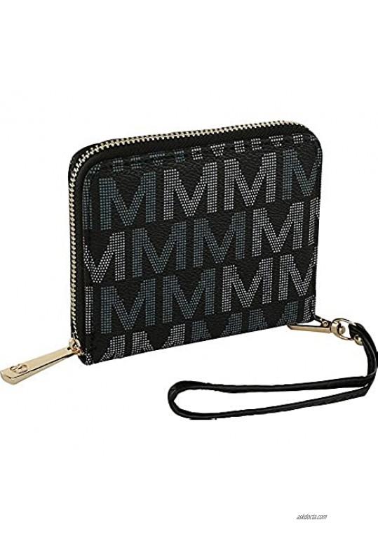 MKF Wristlet Wallet for Women  Multi Card Slots – PU Leather Bag Purse – Lady Fashion Clutch Handbag Removable Strap