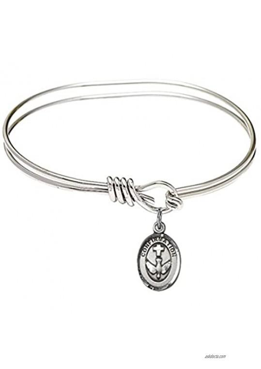 Bonyak Jewelry Oval Eye Hook Bangle Bracelet w/Confirmation in Sterling Silver