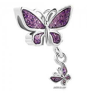 Chili Jewelry Sparkling Butterfly Charm Beads for Bracelets