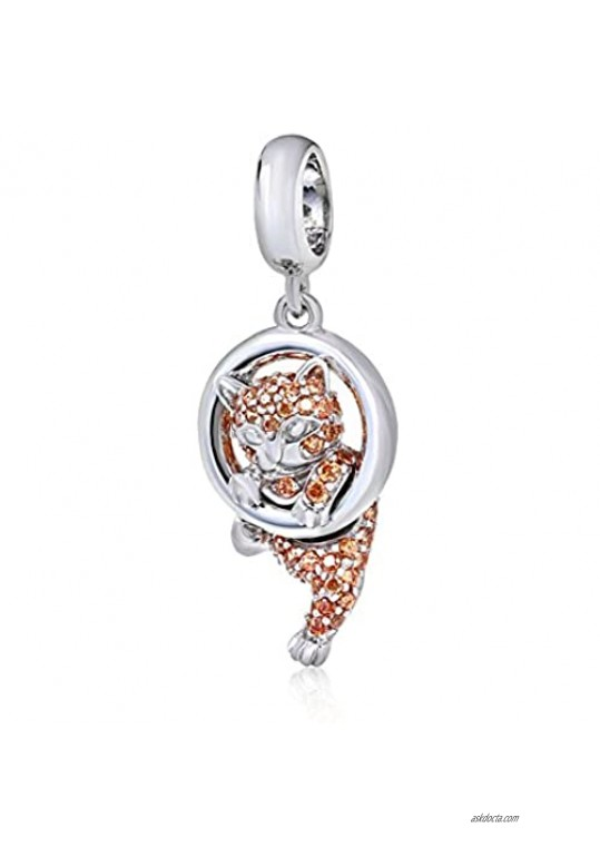 Lucky Cat Charm 925 Sterling Silver Animal Charm Pet Charm Halloween Charm Christmas Charm for DIY Charms Bracelet (Cat)